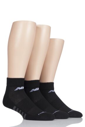 Mens and Ladies 3 Pair New Balance Performance Cotton Low Quarter Socks