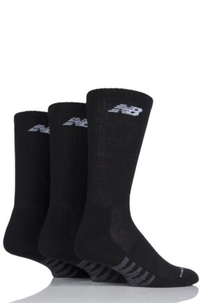 Mens and Ladies 3 Pair New Balance Performance Cotton Low Crew Socks