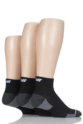 Mens 3 Pair New Balance Performance Training Ankle Socks