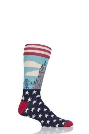 Mens 1 Pair Moustard New York Cotton Socks