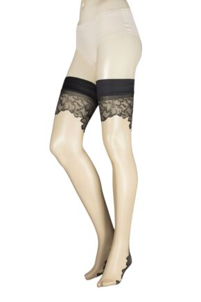 Ladies 1 Pair Trasparenze Ninfa Backseamed Hold Ups