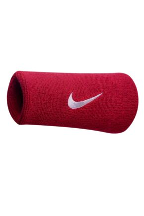Mens and Ladies 2 Pack Nike Swoosh Double-Wide Wristbands In 11 Colours