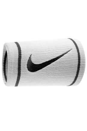 Mens and Ladies 2 Pack Nike Dri-FIT Double Wide Wristbands 25% OFF White / Black