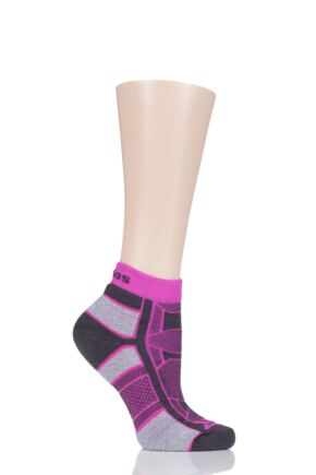 Mens and Ladies 1 Pair Thorlo Outdoor Athlete Walking Socks Pink Punch 5.5-7.5 Unisex