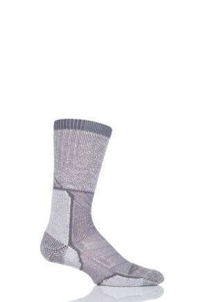 Mens and Ladies 1 Pair Thorlo Outdoor Explorer Walking Socks Grey Sky 2.5-4.5 Unisex