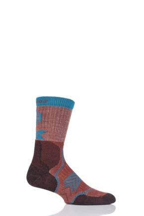 Mens and Ladies 1 Pair Thorlo Outdoor Fanatic Walking Socks Carolina Clay 12.5-14 Unisex