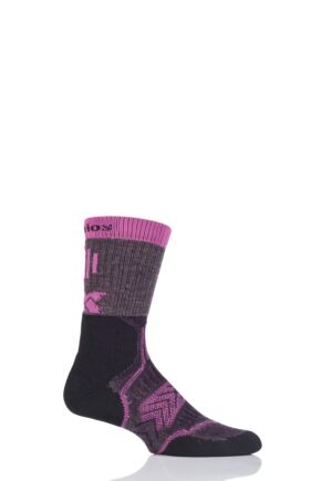 Mens and Ladies 1 Pair Thorlo Outdoor Fanatic Walking Socks Purple Mountain 2.5-4.5
