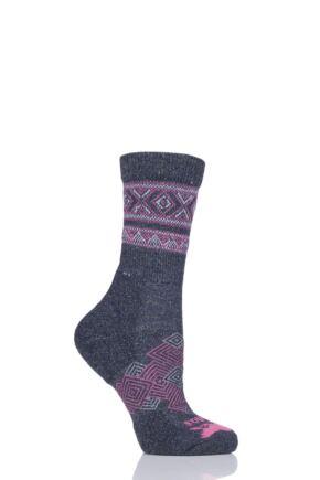 Mens and Ladies 1 Pair Thorlos Outdoor Traveller Walking Socks Midnight Blue 5.5-7.5 Unisex