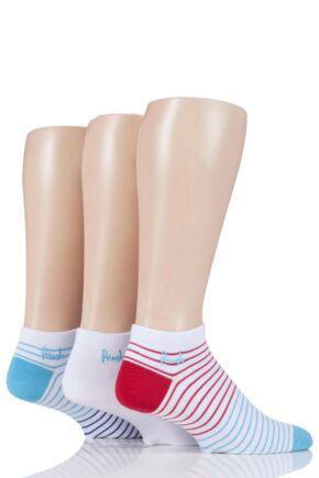 Mens 3 Pair Pringle Plain and Patterned Cotton Secret Socks