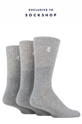 Mens 3 Pair Pringle Bamboo Cushioned Sports Socks Exclusive To SOCKSHOP Grey Bamboo 12-14 Mens