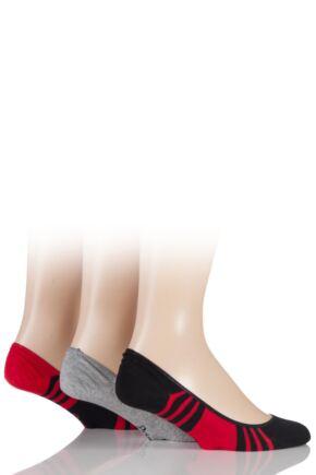 Mens 3 Pair Pringle Gourock Cotton Ultra Low Cut No Show Shoe Liners