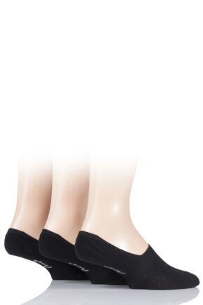 Mens 3 Pair Pringle Plain Cotton Loafer Socks