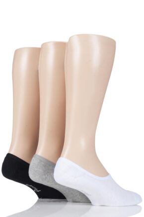 Mens 3 Pair Pringle Plain Cotton Cushioned PED Socks