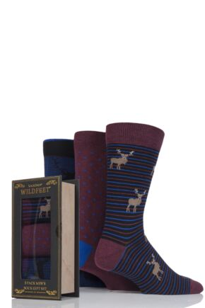 Men's 3 Pair SockShop Wild Feet Gift Boxes