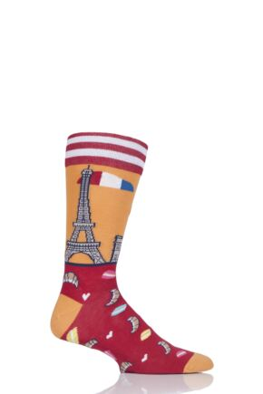 Mens 1 Pair Moustard Paris Cotton Socks