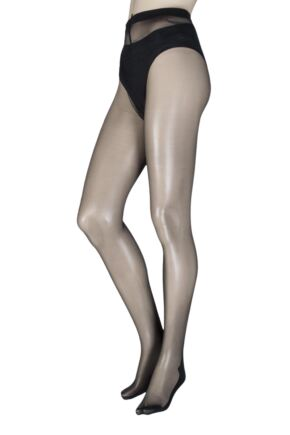 Ladies 1 Pair Trasparenze Pennac 20 Denier Back Seam Sheer Tights