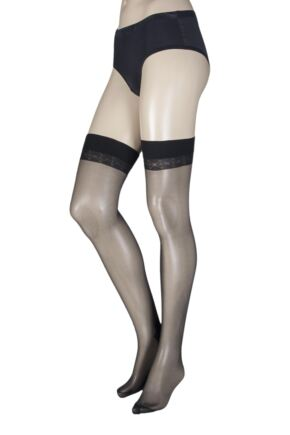 Ladies 1 Pair Trasparenze Pennac 20 Denier Back Seam Sheer Stockings