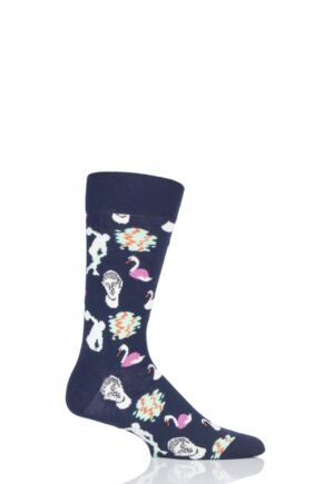 Mens and Ladies 1 Pair Happy Socks In The Park Combed Cotton Socks