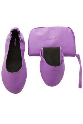 Ladies 1 Pair Tipsy Feet Foldable Shoes Purple S