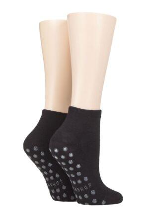 Mens And Ladies 2 Pair Lazy Panda Bamboo Cushioned Slipper Socks