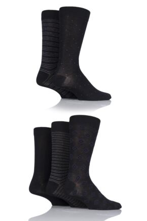 Mens 5 Pair SockShop Bamboo Suit Socks