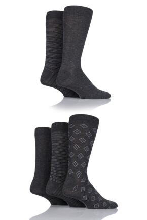 Mens 5 Pair SOCKSHOP Bamboo Suit Socks Grey 7-11