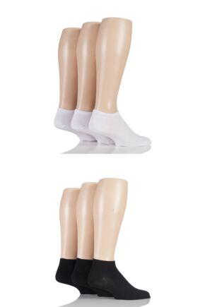 Mens 6 Pair SockShop Bamboo Trainer Socks with Smooth Toe Seams