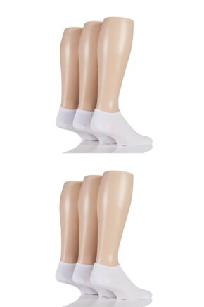 Mens 6 Pair SOCKSHOP Bamboo Trainer Socks with Smooth Toe Seams