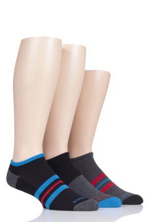 Mens 3 Pair SOCKSHOP Bamboo Cushioned Trainer Socks