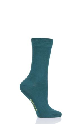 Ladies 1 Pair SOCKSHOP Colour Burst Bamboo Socks with Smooth Toe Seams Message in a Bottle 4-8 Ladies