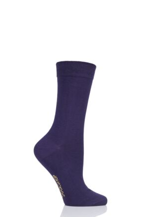 Ladies 1 Pair SockShop Colour Burst Bamboo Socks with Smooth Toe Seams Purple Rain 4-8 Ladies