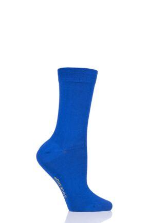 Ladies 1 Pair SockShop Colour Burst Bamboo Socks with Smooth Toe Seams