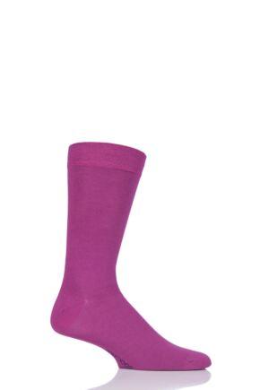 Mens 1 Pair SockShop Colour Burst Bamboo Socks with Smooth Toe Seams