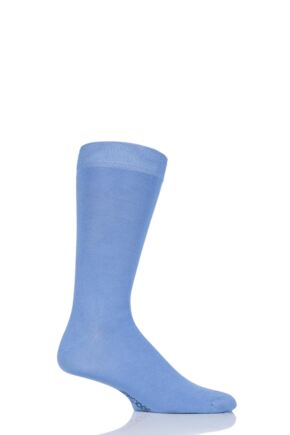 Mens 1 Pair SOCKSHOP Colour Burst Bamboo Socks with Smooth Toe Seams Mr Blue Sky 12-14