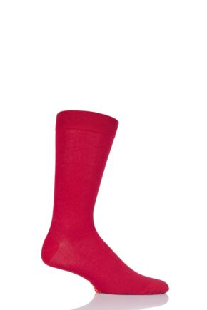 Mens 1 Pair SockShop Colour Burst Bamboo Socks with Smooth Toe Seams Redder Than Red 7-11