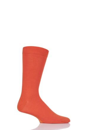 Mens 1 Pair SockShop Colour Burst Bamboo Socks with Smooth Toe Seams Tangerine Dream 6-11