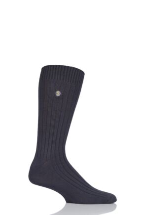 Mens 1 Pair SockShop Colour Burst Bamboo Ribbed Socks