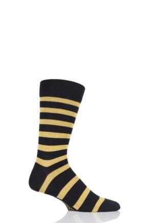 SockShop 1 Pair Striped Colour Burst Bamboo Socks with Smooth Toe Seams