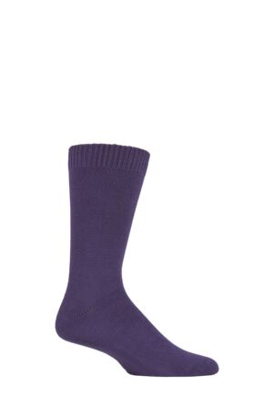 Mens 1 Pair Lazy Panda Bamboo Socks Purple 12-14 Mens