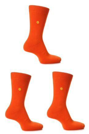 Mens 3 Pair SockShop Colour Burst Cotton Socks with Smooth Toe Seams