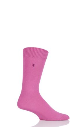 Mens 1 Pair SockShop Colour Burst Cotton Socks with Smooth Toe Seams