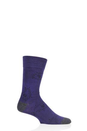 Mens 1 Pair SockShop Colour Burst Patterns Cotton Socks Paisley 7-11 Mens