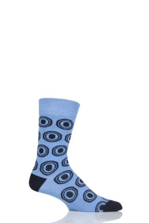 Mens 1 Pair SOCKSHOP Colour Burst Patterns Cotton Socks