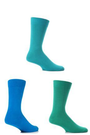 Mens 3 Pair SockShop Colours Single Cotton Rich Socks