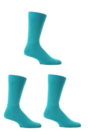 Mens 3 Pair SockShop Colours Single Cotton Rich Socks