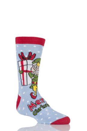 Kids 1 Pair SockShop Dare To Wear Christmas Socks - Santa's Elf 13-3 Kids
