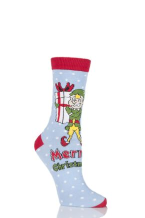 Ladies 1 Pair SockShop Dare To Wear Christmas Socks - Santa's Elf