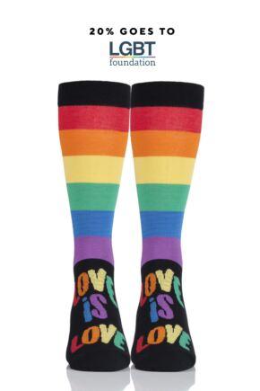 SOCKSHOP Bamboo 1 Pair Pride Rainbow Love is Love Socks