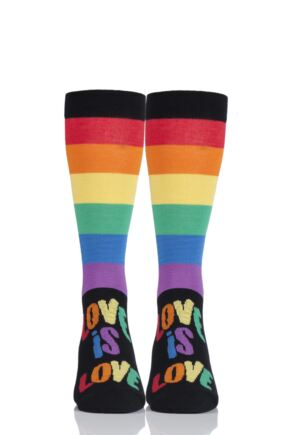 SockShop Bamboo 1 Pair Pride Rainbow Love is Love Socks