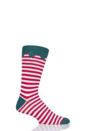 Mens and Ladies SockShop 1 Pair Lazy Panda Bamboo Santa's Elf Christmas Gift Boxed Socks